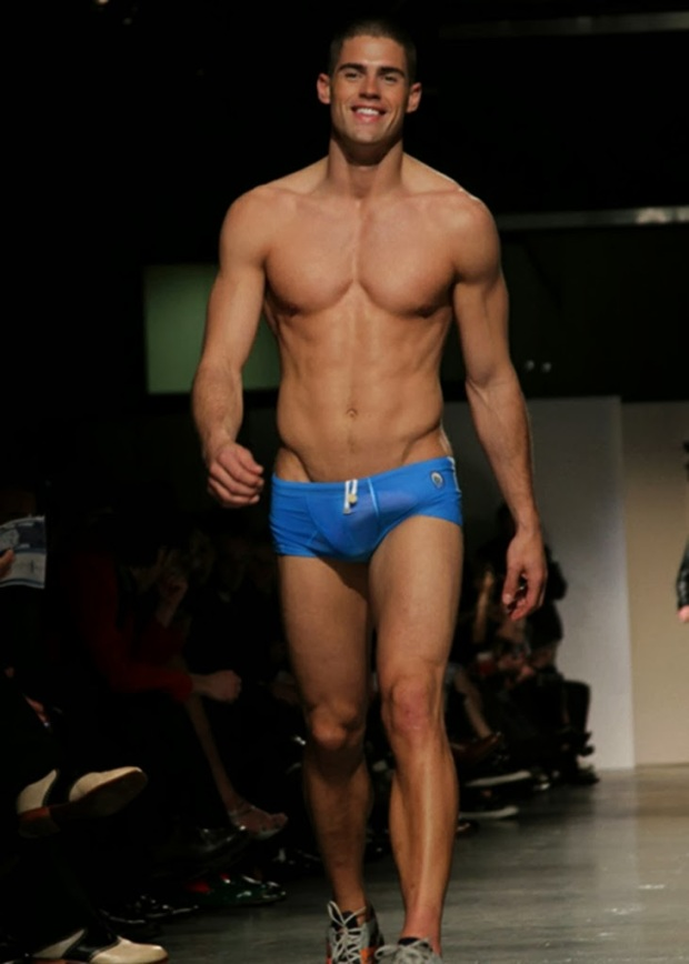 FASHION: (NSFW) MODEL CHAD WHITE SHOWS HIS, UM, STUFF DURING MILAN FASHION WEEK.