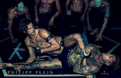 FASHION: PHILIPP PLEIN MAKES THE BOYS WRESTLE IN HIS NEW SS14 CAMPAIGN