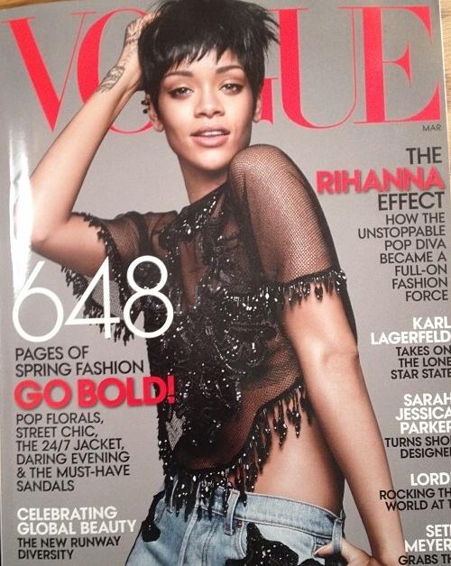 RIHANNA COVERS VOGUE…AGAIN!!